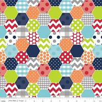 Hexi Print by Riley Blake House Designer