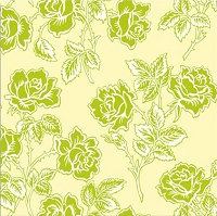 Wallpaper Roses in Ivory - Heather Bailey - Pop Garden