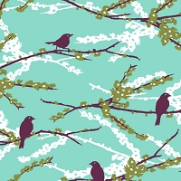 Sparrows in Plum - Joel Dewberry - Aviary 2