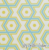 Hexagons in Aquamarine - Joel Dewberry - Notting Hill