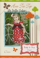 Ava Tie Top Dress Sewing Pattern - Izzy & Ivy Designs