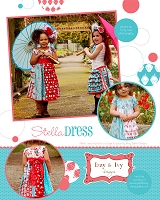 Stella Dress Sewing Pattern - Izzy & Ivy Designs