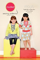 Maya - Ruffled Shirt and Yoga Skirt with Dress Option Sewing Pattern - Modkid by Patty Young