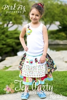 Tea Party Apron Skirt and Top Sewing Pattern - Pink Fig Patterns
