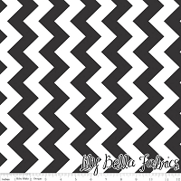 Medium Chevron in Black - Riley Blake House Designer - Chevron Cottons