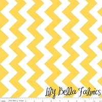 Medium Chevron in Yellow - Riley Blake House Designer - Chevron Cottons