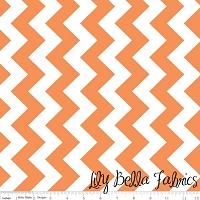 Medium Chevron in Orange - Riley Blake House Designer - Chevron Cottons