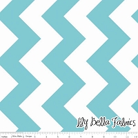 Large Chevron in Aqua - Riley Blake House Designer - Chevron Cottons
