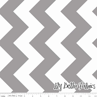 Large Chevron in Gray - Riley Blake House Designer - Chevron Cottons