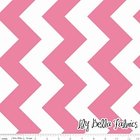 Large Chevron in Hot Pink - Riley Blake House Designer - Chevron Cottons