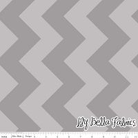 Large Chevron in Tone on Tone Gray - Riley Blake House Designer - Chevron Cottons