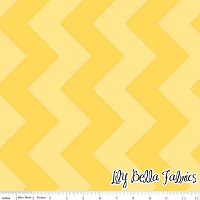 Large Chevron in Tone on Tone Yellow - Riley Blake House Designer - Chevron Cottons