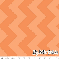 Large Chevron in Tone on Tone Orange - Riley Blake House Designer - Chevron Cottons