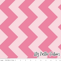 Large Chevron in Tone on Tone Hot Pink - Riley Blake House Designer - Chevron Cottons