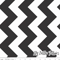 Large Chevron in Black - Riley Blake House Designer - Chevron Cottons