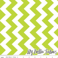 Medium Chevron in Lime - Riley Blake House Designer - Chevron Cottons
