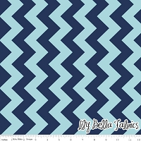 Medium Chevron in Tone on Tone Navy - Riley Blake House Designer - Chevron Cottons