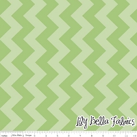 Medium Chevron in Tone on Tone Green - Riley Blake House Designer - Chevron Cottons