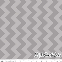 Medium Chevron in Tone on Tone Gray - Riley Blake House Designer - Chevron Cottons