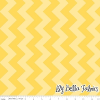Medium Chevron in Tone on Tone Yellow - Riley Blake House Designer - Chevron Cottons