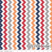 Small Chevron in Boy - Riley Blake House Designer - Chevron Cottons