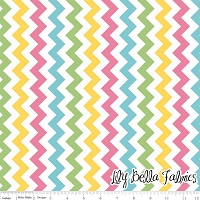 Small Chevron in Girl - Riley Blake House Designer - Chevron Cottons