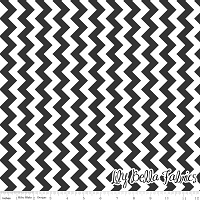 Small Chevron in Black - Riley Blake House Designer - Chevron Cottons