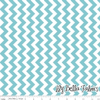 Small Chevron in Aqua - Riley Blake House Designer - Chevron Cottons