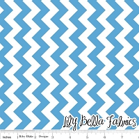 Small Chevron in Medium Blue - Riley Blake House Designer - Chevron Cottons