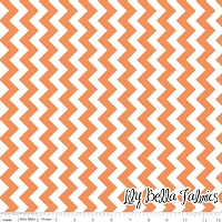 Small Chevron in Orange - Riley Blake House Designer - Chevron Cottons