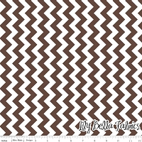 Small Chevron in Brown - Riley Blake House Designer - Chevron Cottons
