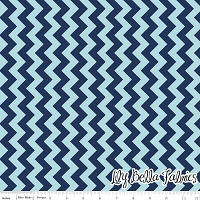 Small Chevron in Tone on Tone Navy - Riley Blake House Designer - Chevron Cottons