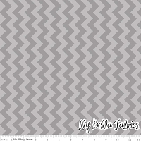Small Chevron in Tone on Tone Gray - Riley Blake House Designer - Chevron Cottons