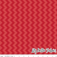 Small Chevron in Tone on Tone Red - Riley Blake House Designer - Chevron Cottons
