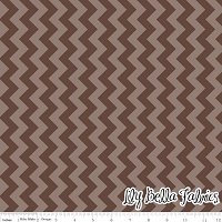Small Chevron in Tone on Tone Brown - Riley Blake House Designer - Chevron Cottons