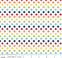 Small Dots in Rainbow - Riley Blake House Designer - Cotton Dots