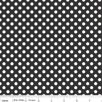 Small Dots in Black - Riley Blake House Designer - Cotton Dots