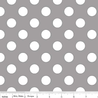 Medium Dots in Gray - Riley Blake House Designer - Cotton Dots