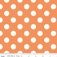 Medium Dots in Orange - Riley Blake House Designer - Cotton Dots
