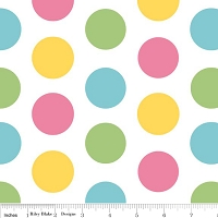 Large Dots in Girl - Riley Blake House Designer - Cotton Dots