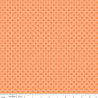 Small Dots in Tone on Tone Orange - Riley Blake House Designer - Cotton Dots