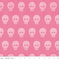 Geekly Skulls in Hot Pink - Amy Adams, Dorothy Tsang, and Riley Blake House Designer - Geekly Chic
