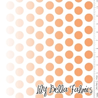 Ombre Dot in Orange - Riley Blake House Designer - Ombre Dots