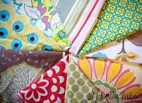 Designer Fabric Scrap Bag for String Quilts