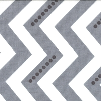 Dotted Zig Zag in White Graphite Gray - V and Co. - Simply Color