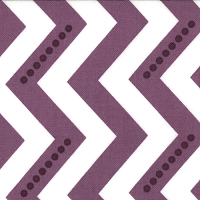 Dotted Zig Zag in White Eggplant - V and Co. - Simply Color