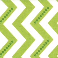 Dotted Zig Zag in White Lime Green - V and Co. - Simply Color