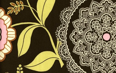 Lacework in Olive - Amy Butler - Lotus
