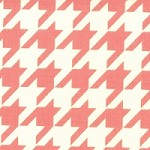 Houndstooth in Melon - Bonnie & Camille - Vintage Modern