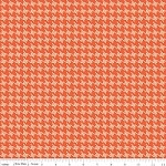 Houndstooth in Orange - Emily Taylor Design - Avignon